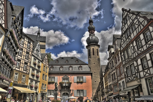 Plaza del mercado de cochem alemania alberto gonz lez - Cochem alemania ...