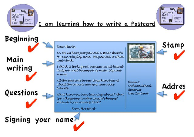 how to write a post card