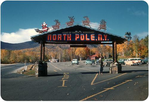 Santa's Workshop, North Pole, NY – 1954 | Entrance to the pa ...