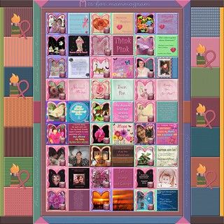 "Presenting in 2011 - the 4th Annual Digital Breast Cancer Awareness Quilt on Flickr - ""M"" is for mammogram!"" 