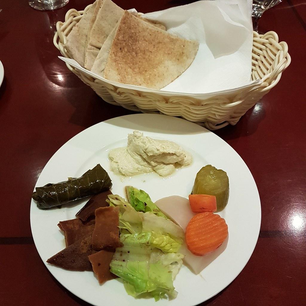 Salad with Saudi Bread @ Al Safir Hotel, Bahrain