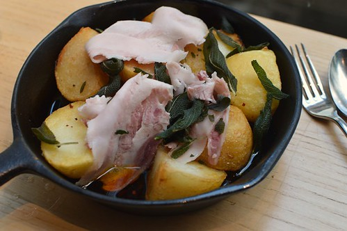Potatoes, guanciale & sage