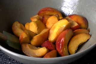 peaches, macerating | by smitten kitchen