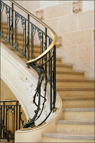 rampe d 39 escalier de l 39 ancienne banque renauld nancy flickr. Black Bedroom Furniture Sets. Home Design Ideas