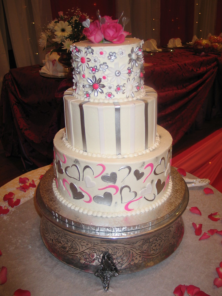3 Tier Wicked Chocolate Wedding Cake White Butter Icing Flickr - Wicked Wedding Cakes