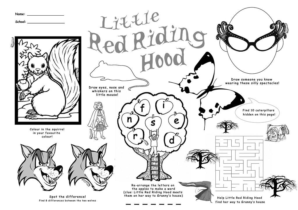 Little Red Riding Hood activity sheet | Kids' activity sheet… | Flickr