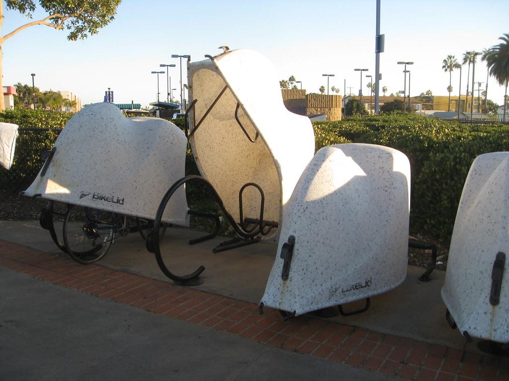 Covered Bike Storage : Bicycle covered storage quot bike lid rail station