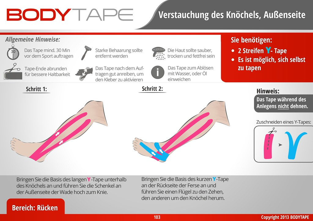 BODY TAPE | Kinesiologie Taping Anleitung | Verstauchung d… | Flickr