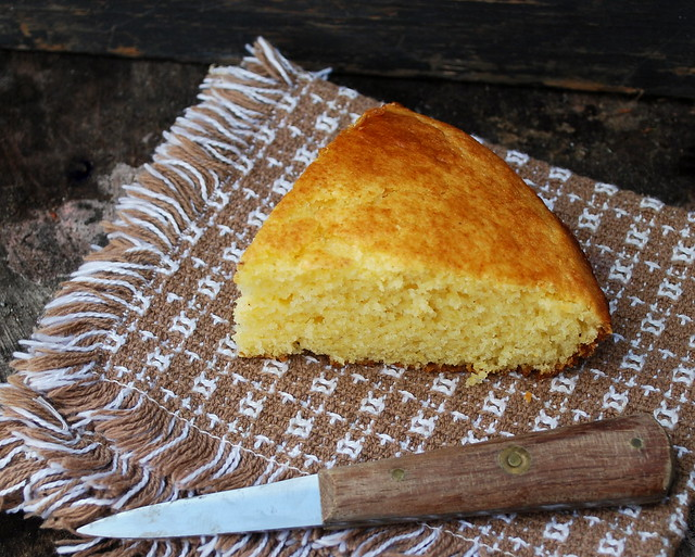 Light Fluffly cornbread slice blog 1