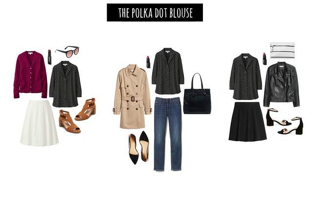 3 ways polka dot blouse | Style On Target