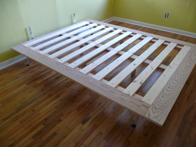 DIY Platform Bed Project Almost Done Just Need To