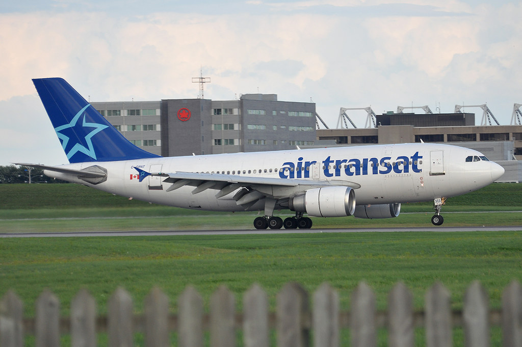 air transat a310 c gpat arriving from europe most likely flickr
