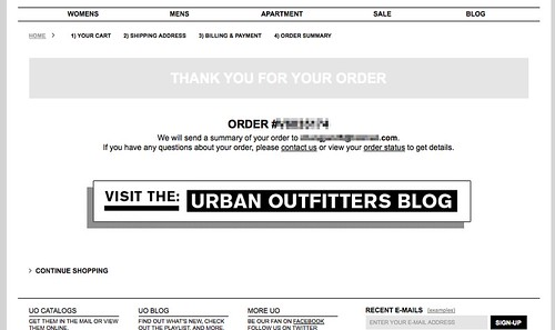 Cart Flow Thank You Page Urban Outfitters Online Shoppin Flickr