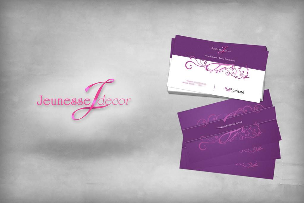 Jeunesse Decor Logo and Business Cards | Business Card desig… | Flickr