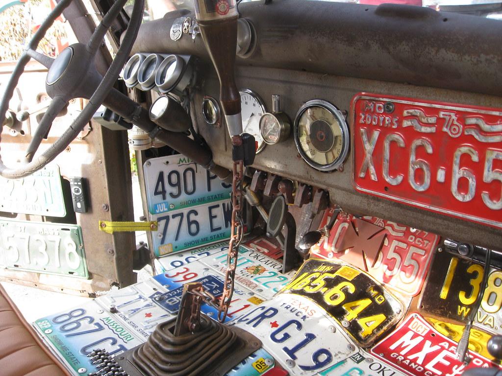 Rat rod interior license plates encinitas california - Interior design license california ...
