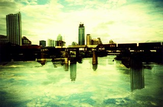 Flipping Austin/Mirrored Downtown | by Lomo-Cam