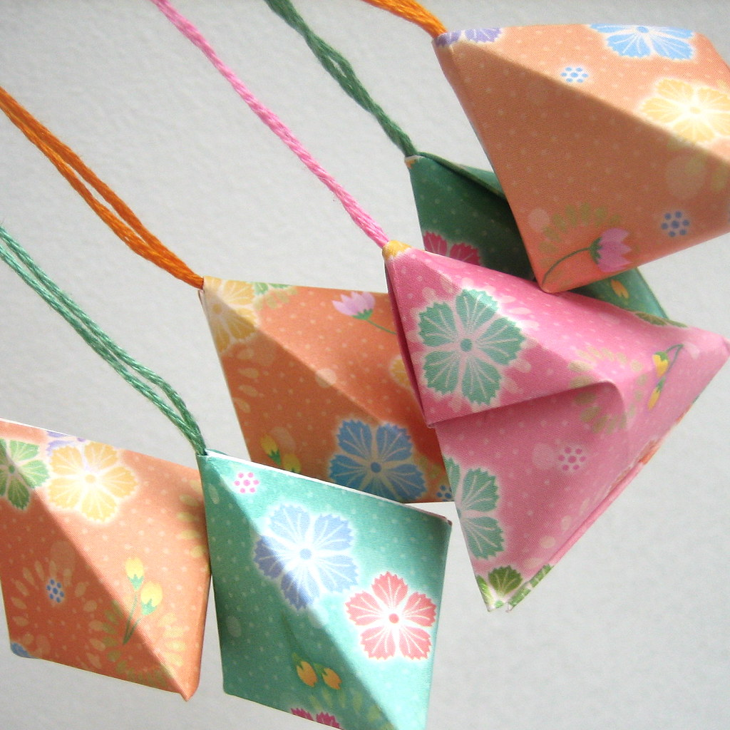 Origami Christmas Baubles Oriental Flower Pattern Flickr