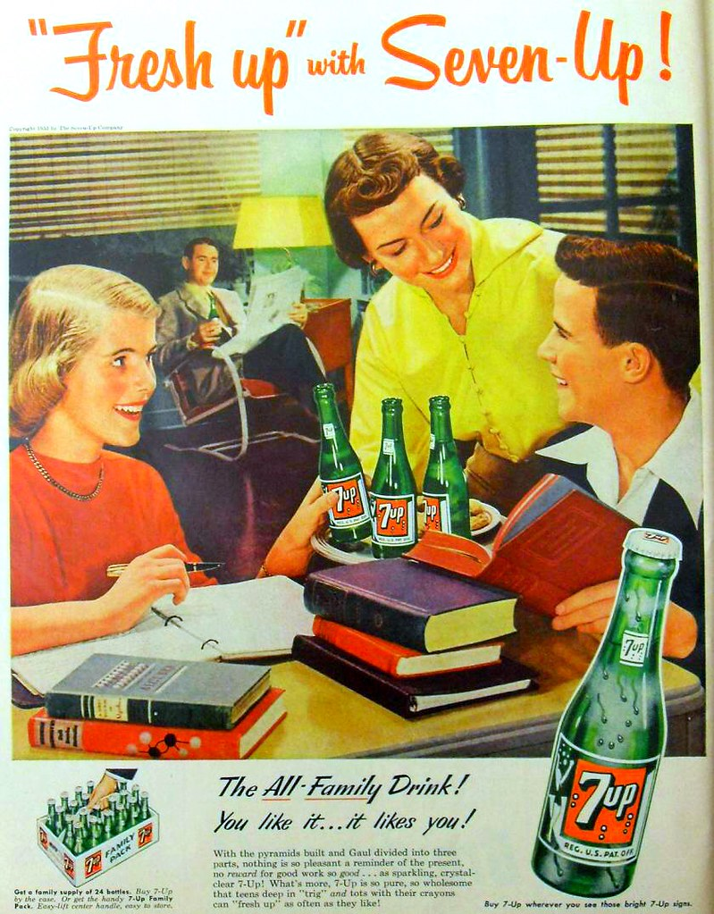 vintage 1950s seven up advertisement 1953 7 up soda ad