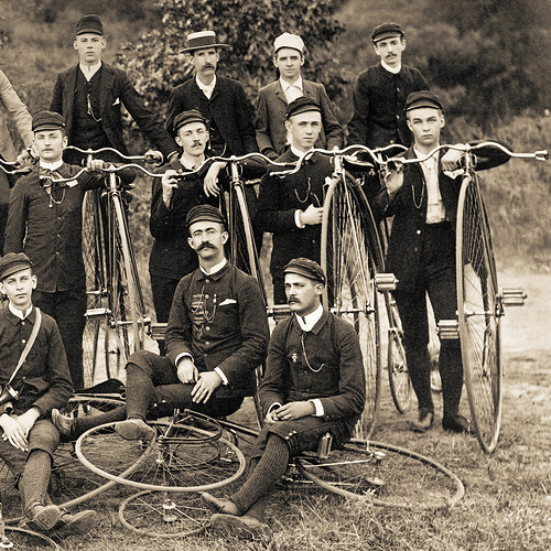 "High Wheel Bicycle Club Group Photo - circa 1895 (cropped) | by IronRodArt - Royce Bair (""Star Shooter"")"
