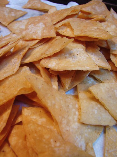 homemade tortilla chips for chilaquiles | by The Shifted Librarian