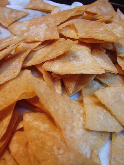 homemade tortilla chips for chilaquiles | The Shifted Librarian ...