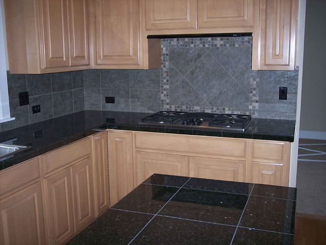 Galaxy Black Granite Counter with Backsplash | Curtis ... on Backsplash For Black Granite  id=27337