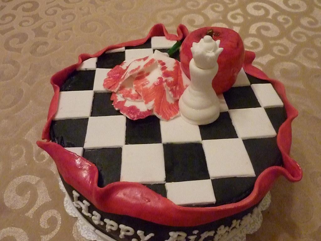 Twilight Birthday Cake Chocolate Cake With Raspberry Filli Flickr