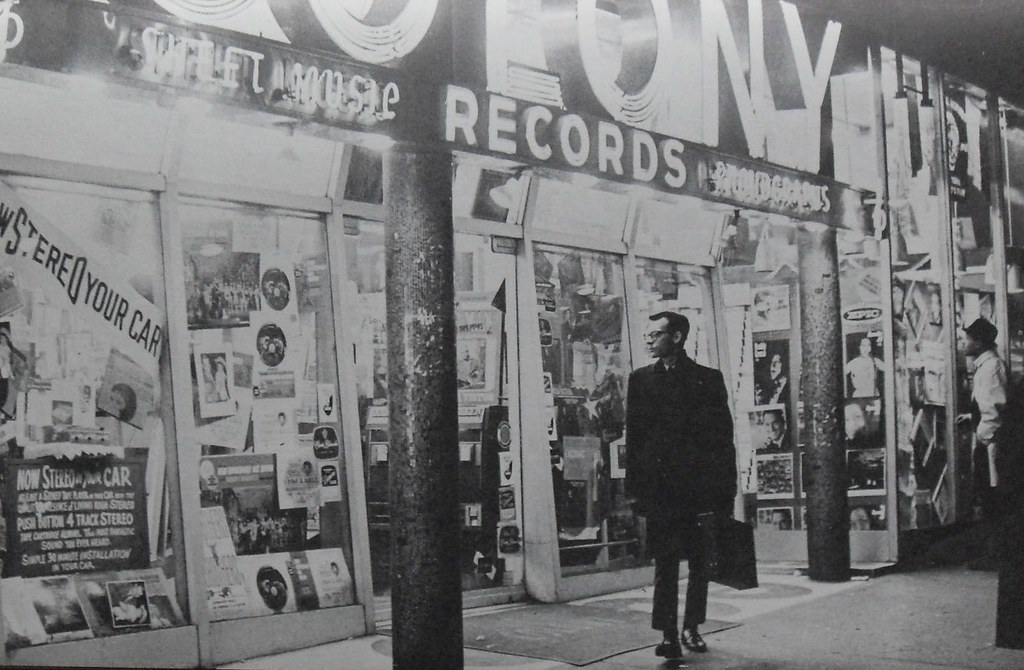 Times Square 1960s Colony Records Vintage New York City