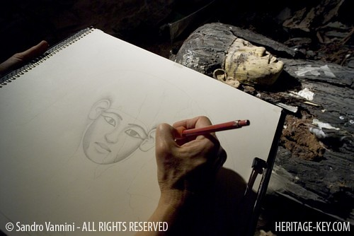 how to draw a sarcophagus