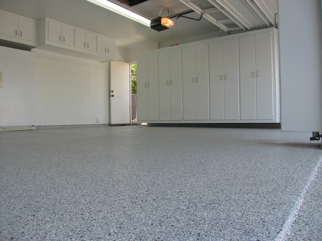 A custom garage cabinets epoxy floors 6619040602 flickr for Closet world garage