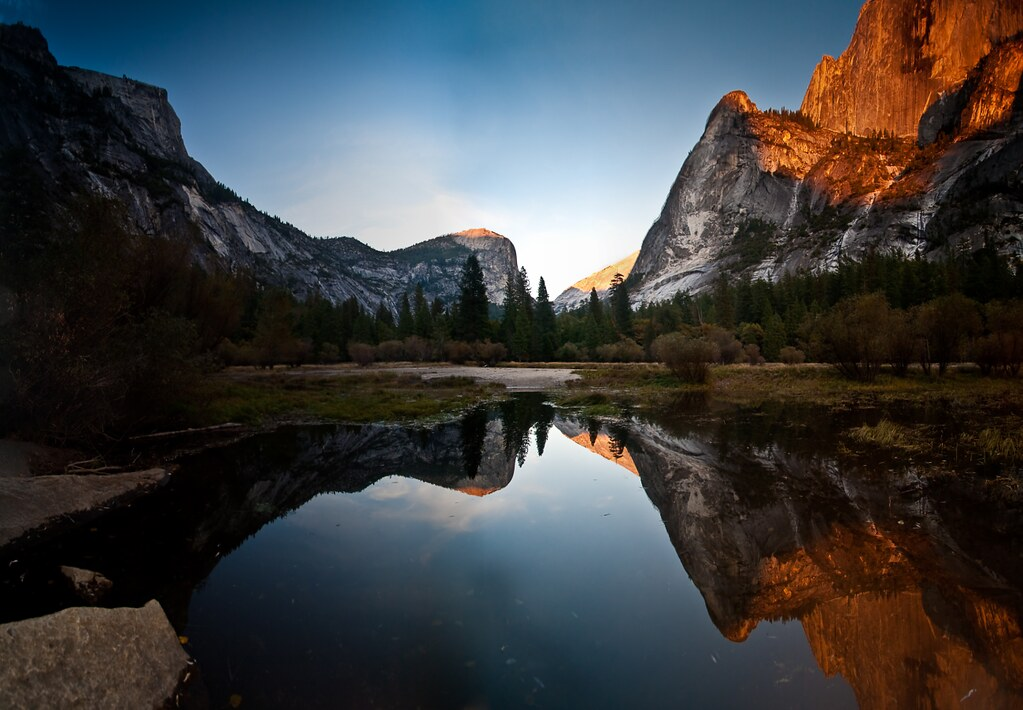 yosemite mirror lake at sunset 2