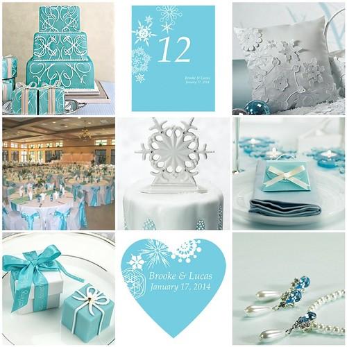 The Tiffany Blue Theme Wedding Ideas: Winter Wedding Theme - Winter Finery And Tiffany Blue