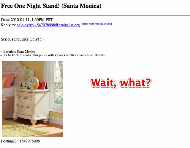 craigslist  jobs one night stand site