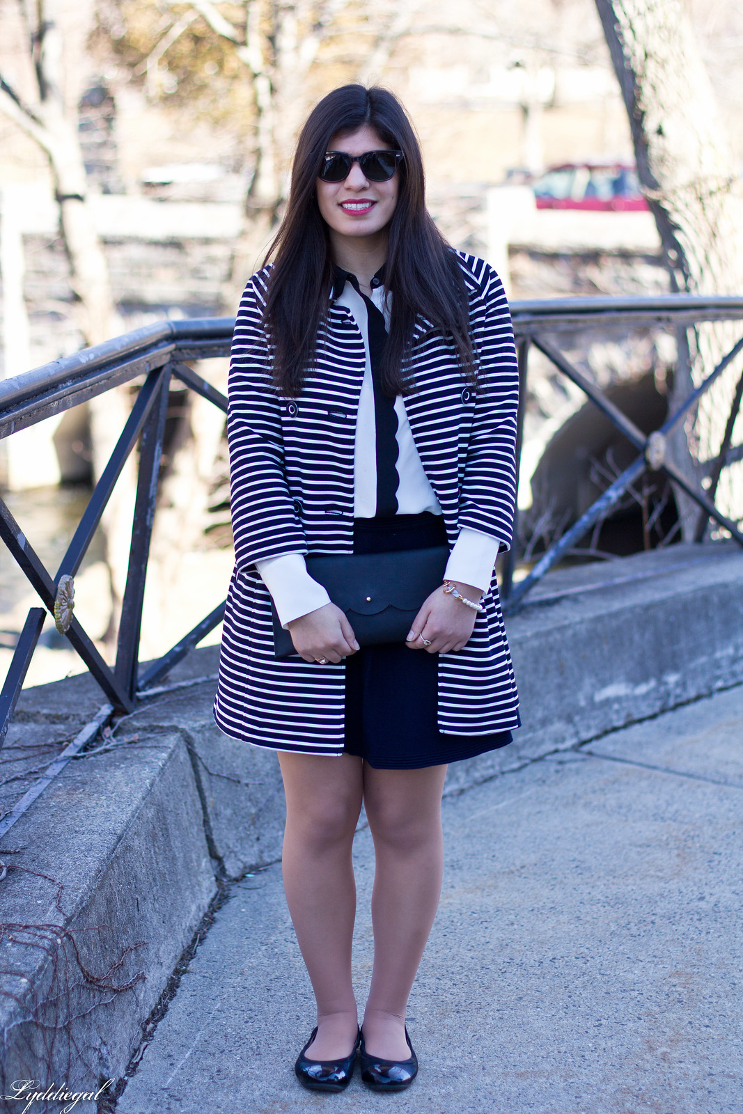 striped coat, scalloped blouse, navy skirt, anchor bracelet-2.jpg
