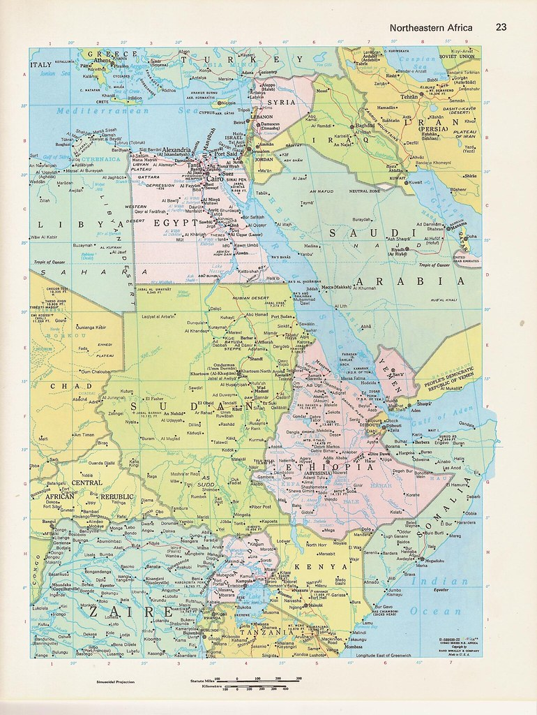 C1980s northeastern africa and saudi arabia color world at flickr c1980s northeastern africa and saudi arabia color world atlas book plate by walker street vintage gumiabroncs Images
