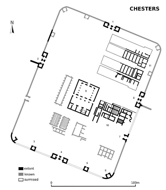 plan of Chesters fort