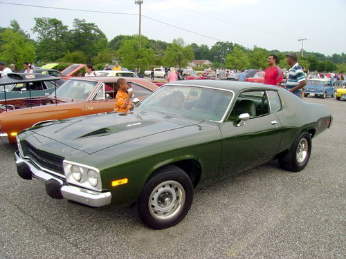 1973 Plymouth Road Runner Lost In The 50s Cruise Night