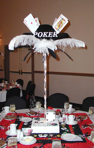 Casino night centerpiece ideas