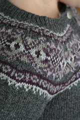 Shoulder detail, Plum Frost Cardigan | by ElinorB