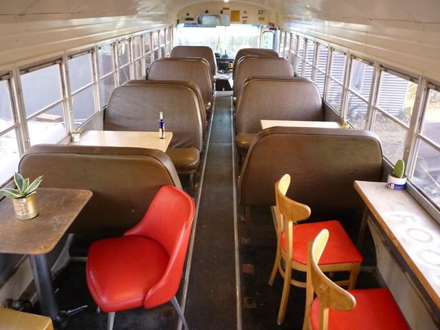 food shark dining car school bus 11 1989 blue bird 72