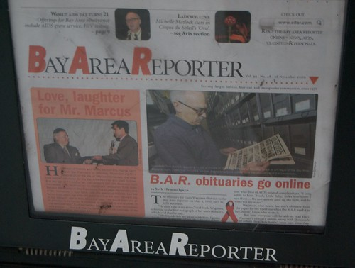 Bay Area Reporter : Bay area reporter obits online dec glbthistory