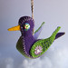 felt bird ornament