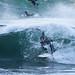 Tubes were few but ferocious.  Surfing at Morro Rock in Big Winter Waves, Morro Bay, CA 11 Dec 2009.