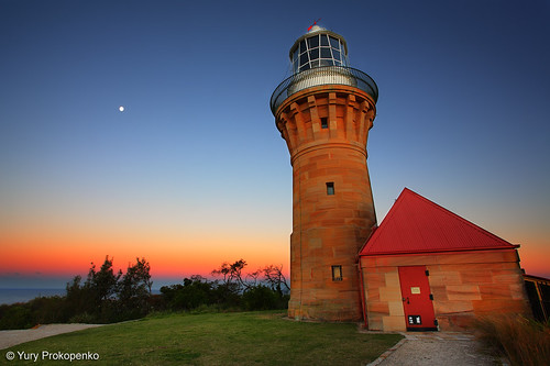 Barrenjoey Lighthouse after Sunset, Sydney, Australia | by -yury-