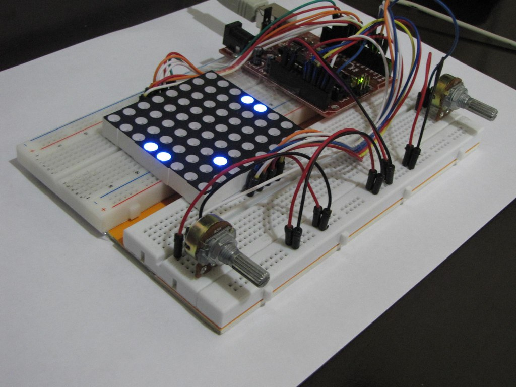 Experiment 15: Experiment with 88 LED matrix on