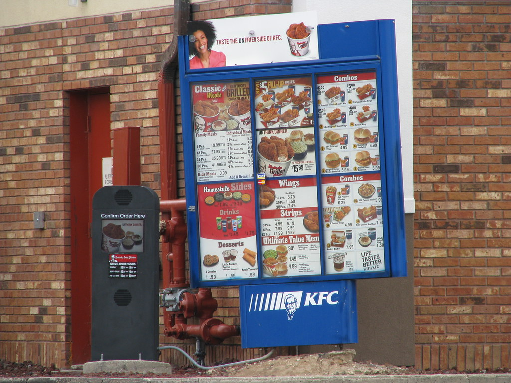 KFC menu board | These are shipped through my work from ...