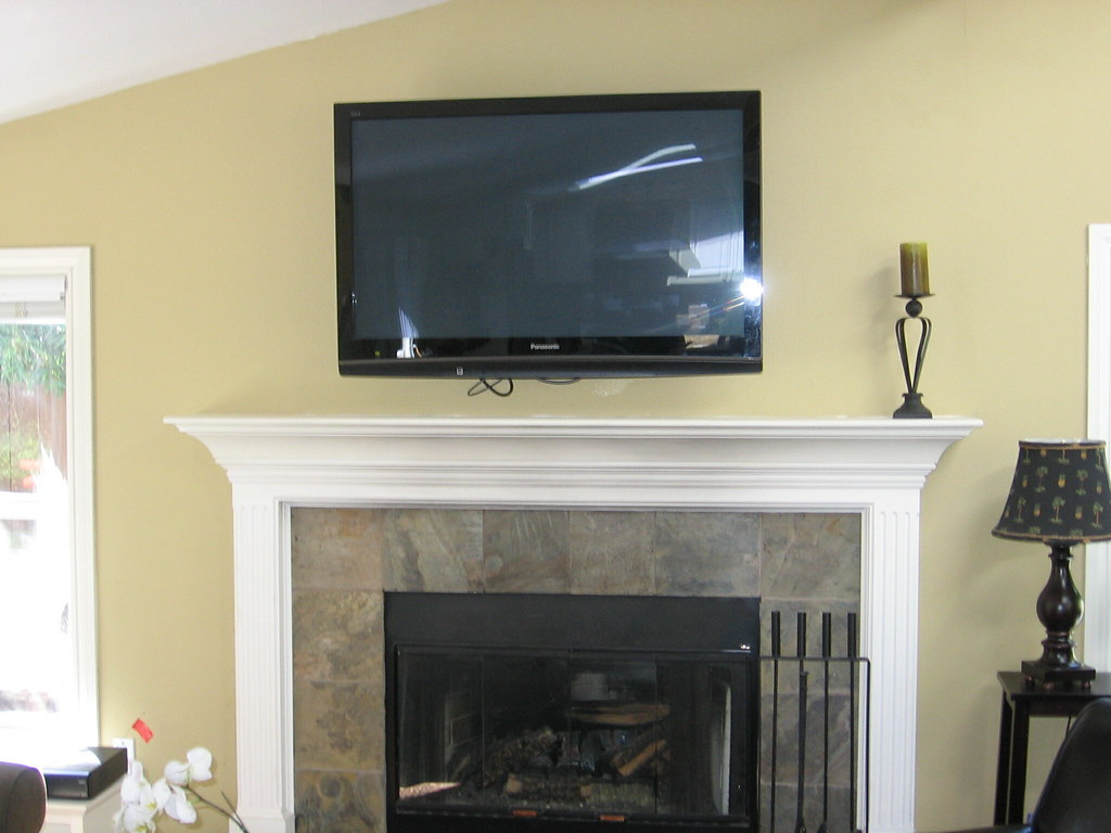 AFTER Fireplace Remake & Flat Screen TV Installation 199