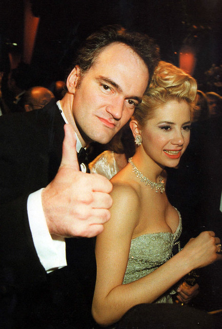 Quentin Tarantino And Mira Sorvino 1994 From The Book