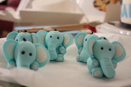 elephants cake toppers | elephants made with gumpaste ...