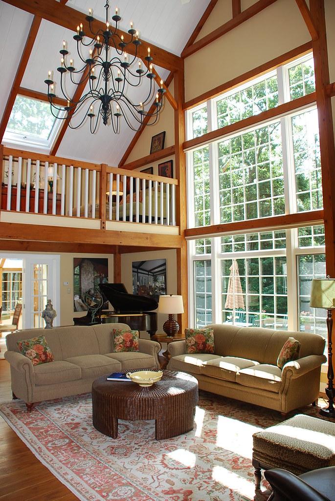... Yankee Barn Homes Model House In Grantham, NH | By Yankee Barn Homes